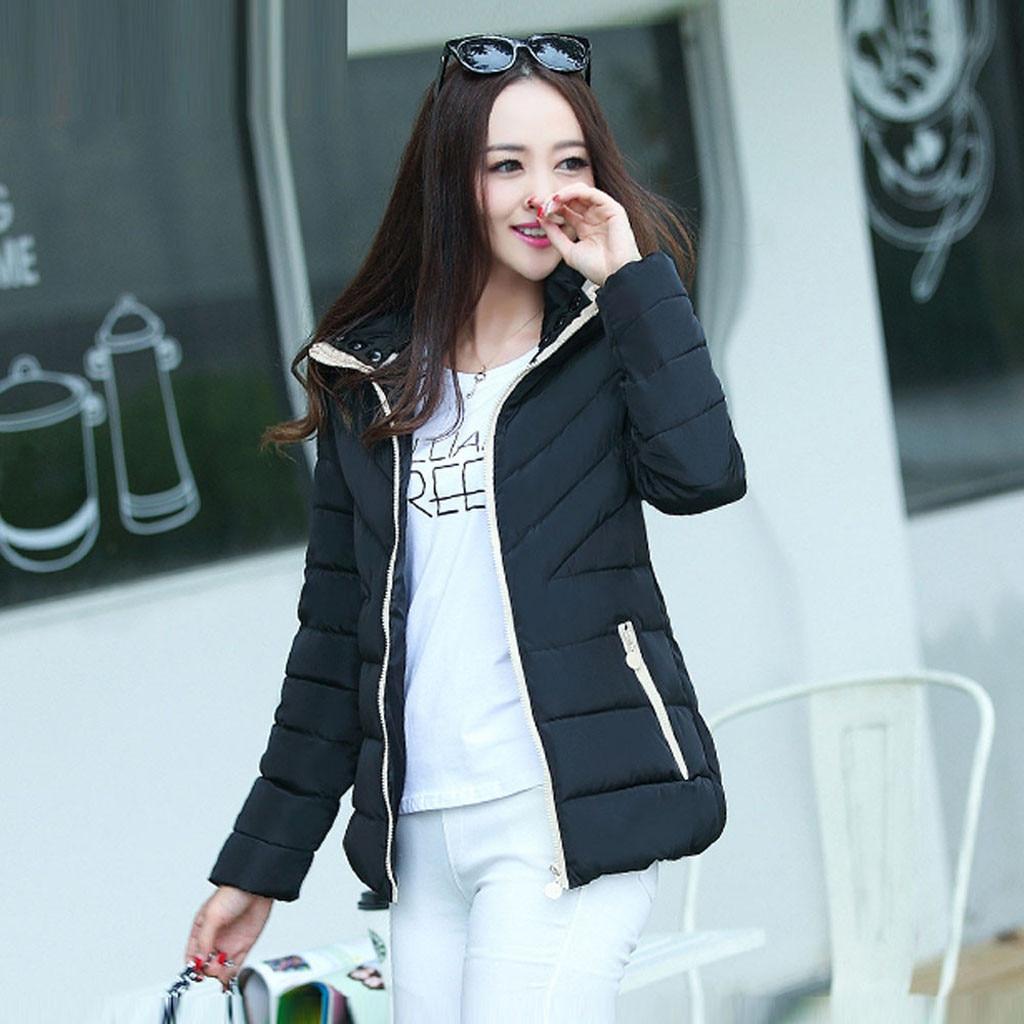 H3d058ac5a31a4b0d888de37fc5f88d4f0 fashion Women's Jackets Hooded Thickening Slim Outwear Winter Warm Casual Short Jacket Women Coat Outwear Tops