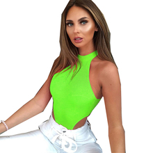 Women Bodysuit Sexy Party Club Sleeveless Bodycon Tops Autumn Lady Body White Romper Femme
