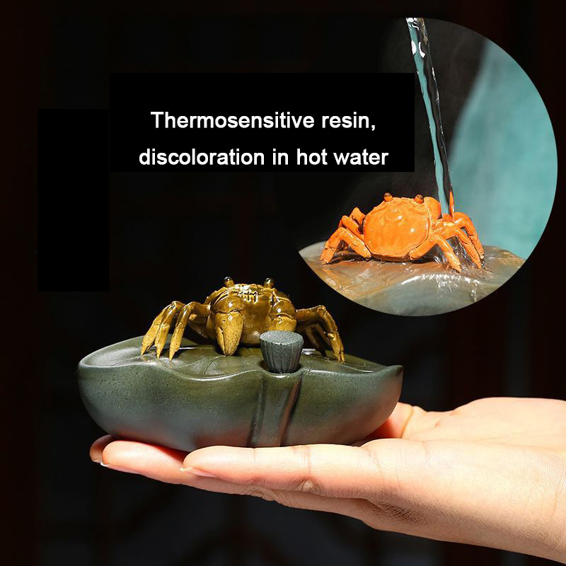 PINNY Purple Clay Color Changing Crab Tea Pet Taste Ceramic Ceremony Ornaments Home Decoration Accessories