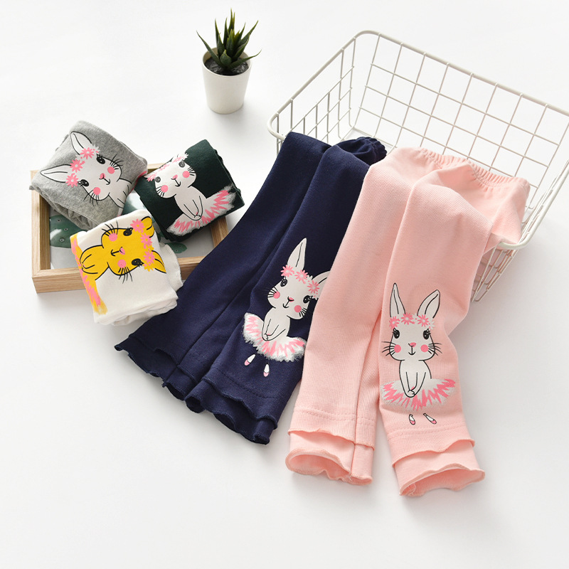 Girls Winter Leggings Autumn Baby Girl Kids Pants Cartoon Rabbit Design Legging For Girls Cotton Trousers Toddler Dance Pants