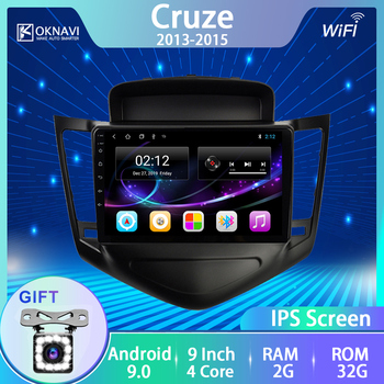 OKNAVI Car Radio For Chevrolet Cruze 2013 2014 2015 9 inch Android 9.0 Multimedia Player GPS Navigation WIFI Bluetooth & Canbus