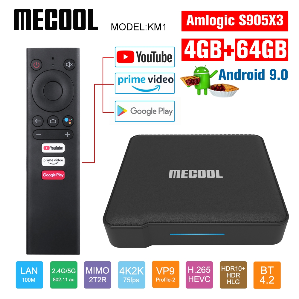 Mecool Google Certified KM1 Andriod 9.0 4G 64G Amlogic S905X3 ATV box tv Dual Wifi 4K Voice Andriod tv box Youtube smart box|Set-top Boxes|   - AliExpress