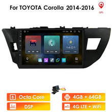 Quad Core Android Car Radio Multimedia Video Player Navigation For Toyota Corolla 2014 2015 2016 GPS Stereo WIFI BT SWC AM FM T3