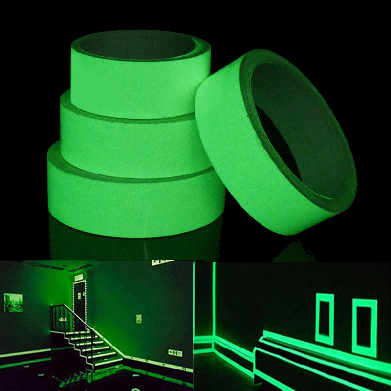 PVC 20mm Luminous Tape Self-adhesive Tape Night Vision Glow In Dark for Safety Warning Security Stage Home Decoration Tapes