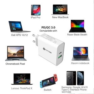 Image 4 - 2 port 87W USB C Power Adapter,1Port PD87W QC3.0 1port USB A 12W Wall Changer For Pro 8/X/11 Pro USB C Laptops S8/S10 Changing