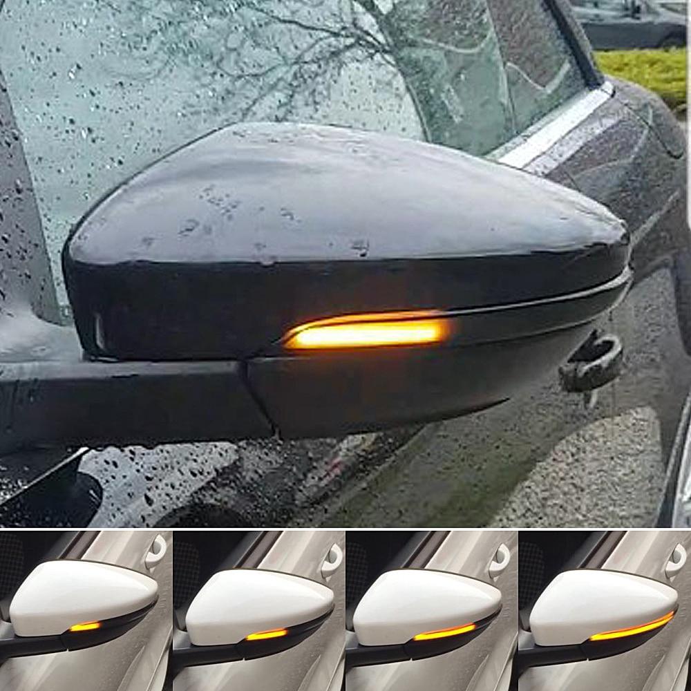 Для VW Passat B7 CC Scirocco MK3 Jetta MK6 EOS Beetle R светодиодный динамический поворотов последовательного боковое зеркало индикатор светильник
