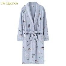 Kimono New Arrival Robe For Female Autumn Nightgown Cotton Bathrobe Women Pajamas Long Sleeve Pyjamas For Ladies Plus Size Robes