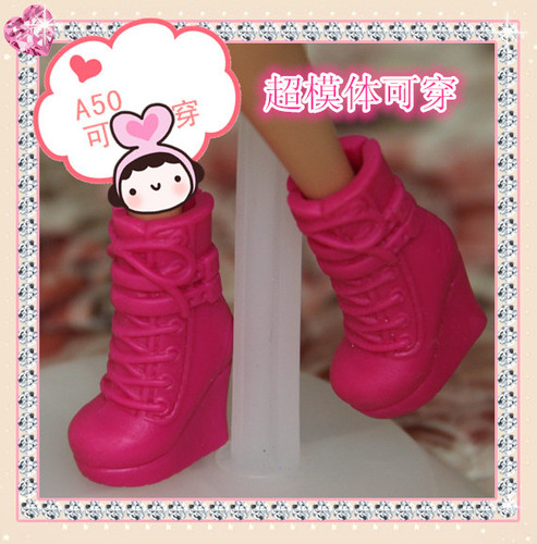 1/6 Doll Shoes Mix style High Heels Sandals Boots Colorful Assorted Shoes Accessories For Barbie Doll Baby Xmas DIY Toy 16