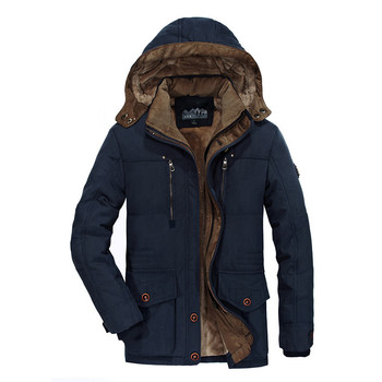Mens Winter Jacket Thick Casual Outwear Jackets Male Windproof Hooded Parkas Plus Size 5XL 6XL New Men's Velvet Warm Coats
