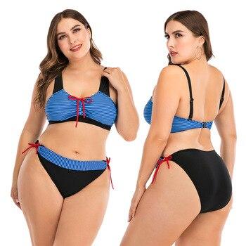 Push Up Bikini Sets Swimwear Women Swimsuit 2020 Plus Larges Size Bathing Swimming  Suits Beachwear For Famale Sexy Biquini Wear 15