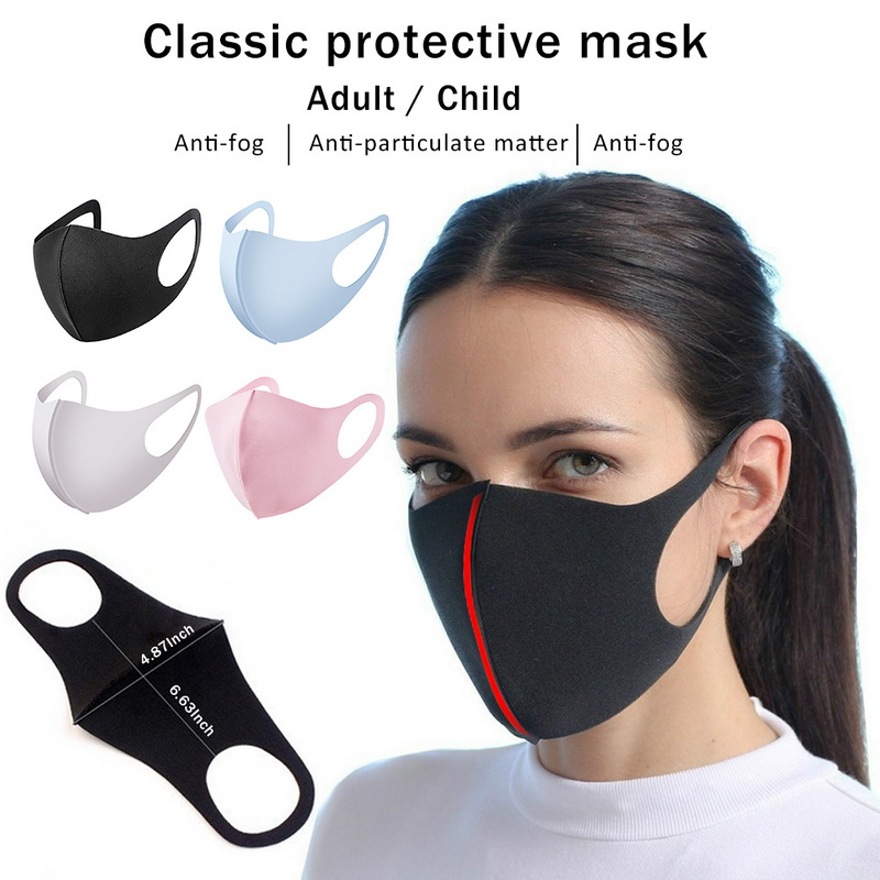 H3d062212a22349a6a415c298a5bc51a9A - 1/5pcs Reusable Cotton Mouth Mask Child Baby Dustproof Mouth muffle Mask Face Protective Masks Anti Haze Dust Washable Women Men