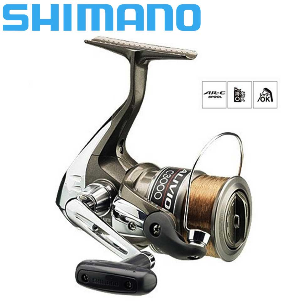 100% оригинальная спиннинговая Рыболовная катушка SHIMANO ALIVIO 1 + 1BB с оригинальной нейлоновой леской, AR C катушка, жесткие рыболовные катушки
