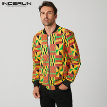 INCERUN Autumn Men Jackets 2021 3D Printed Long Sleeve Streetwear Casual Zippers Coats Chic Ethnic Style Outerwear Men's Jackets