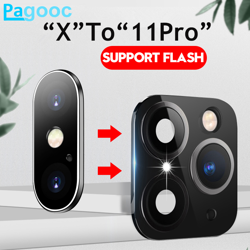 9D Full Camera Lens Screen Protector For IPhone Xs X Xr 11 Pro Xs Max Sticker Lens Protection Glass Case Change To For IPhone 11