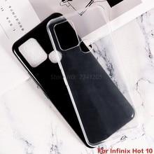 Macio preto tpu caso para infinix quente 10 6.78 polegada capa traseira resistente à sujeira transparente caso de telefone para infinix quente 10 coque funda