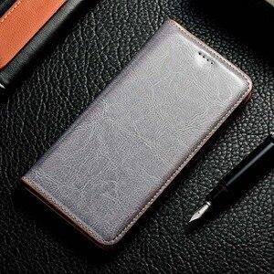 Image 2 - מגנט טבעי אמיתי עור עור Flip ארנק ספר טלפון מקרה כיסוי על עבור Realmi Realme C3 6 פרו Realme6 6Pro C 3 64/128 GB