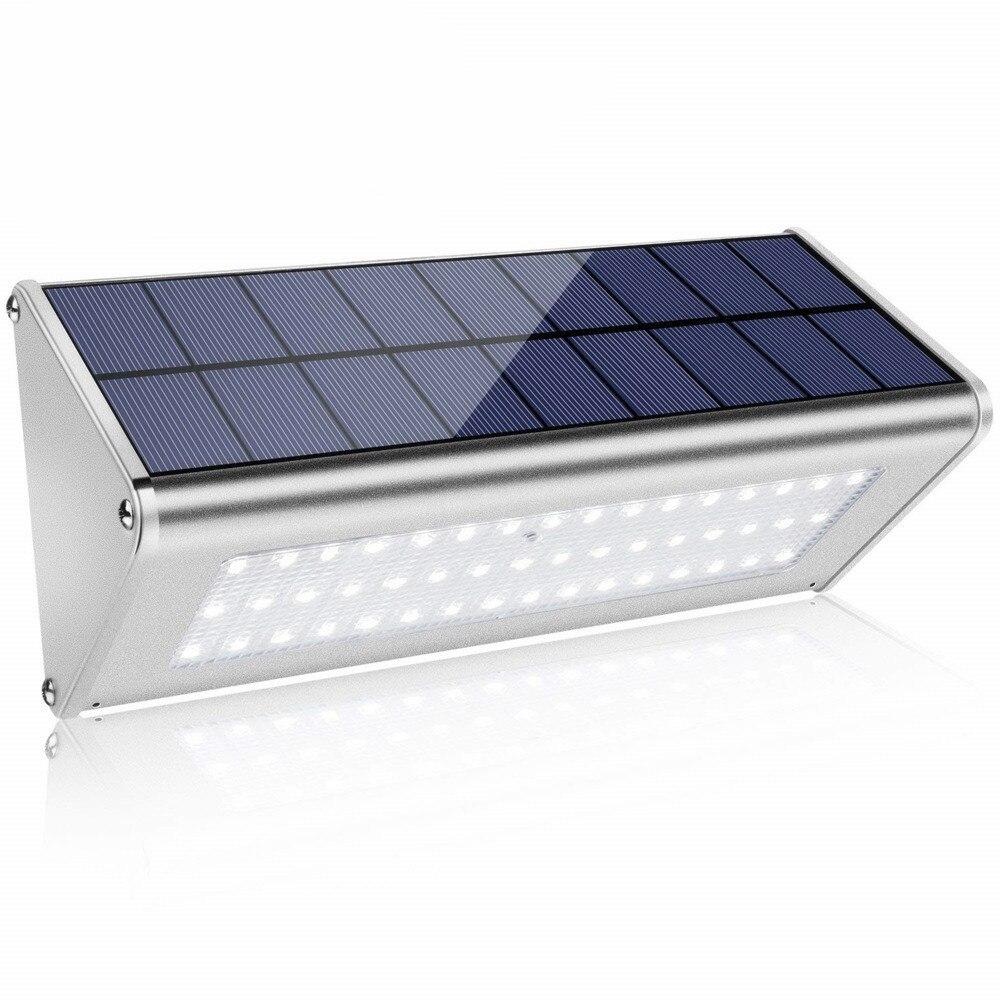 alto brilho radar sensor de movimento 48 leds 700lm aluminio solar lampada jardim casa luz parede