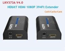 LKV373A V4.0 HDMI 익스텐더 120m 이더넷 tcp/ip RJ45 Cat5/5e Cat6 비디오 컨버터 송신기 수신기 어댑터 DVD PS