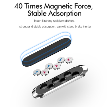 Magnetic Car Phone Holder Dashboard Mini Strip Shape Stand For iPhone Samsung Xiaomi Metal Magnet GPS Car Mount for Wall 1