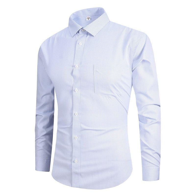 Хит продаж, продукт в 2019, модные высококачественные деловые свободные глажки, мужские рубашки с длинным рукавом, профессиональная одежда