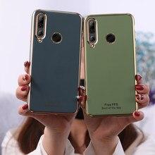 Caso Chapeamento de ouro Cor de Abacate Capa Mole para Huawei Nova 3 3i 3e 5 5i 5T 6 7 SE Y5 Y6 Y7 Y9 Pro Prime 2018 2019 Y7p Y8p Y9s