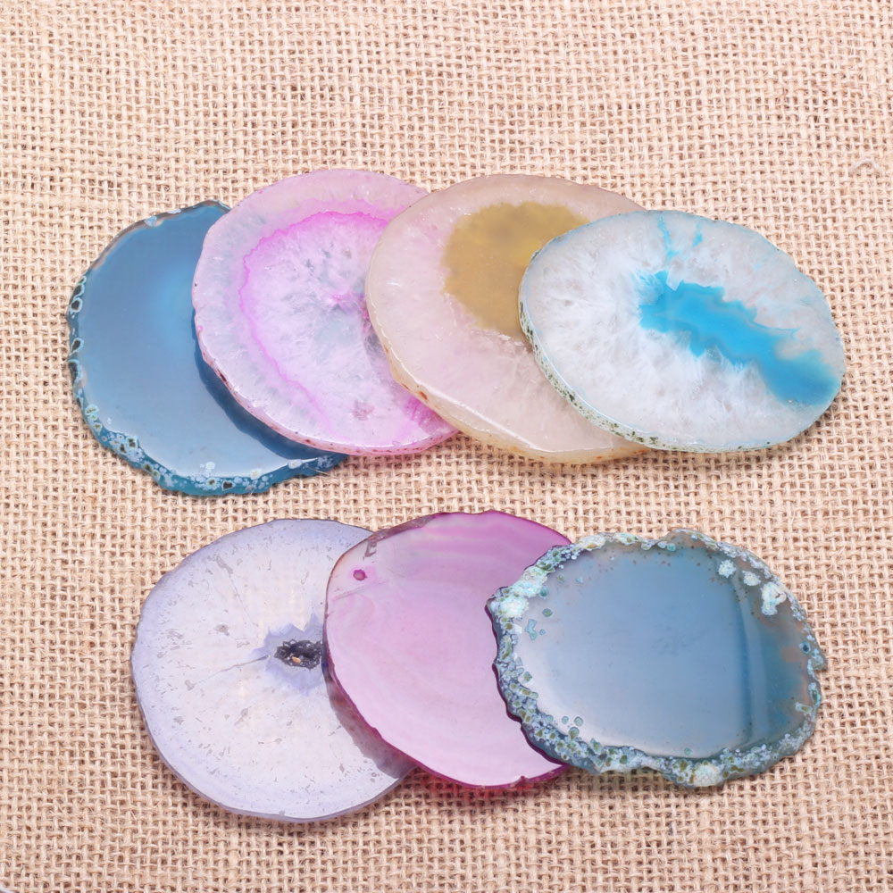 Hot Sale New Popular Personality High Quality Elegant Practical Fashion Natural Stone Round Agate Coaster Crafts