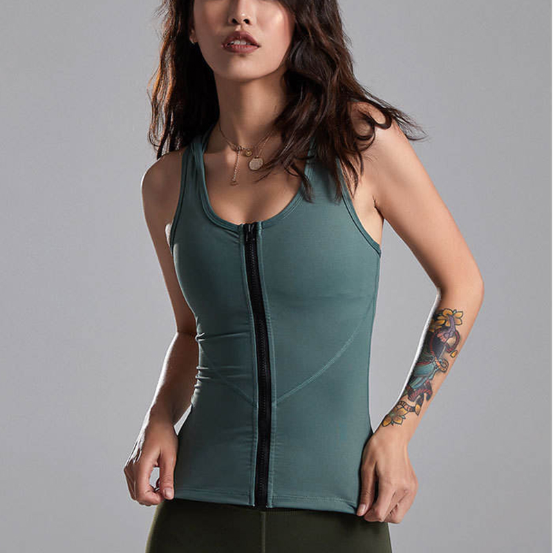 Women Gym Tank Crop Top Causal Mesh Patchwork Running Exercise Sports Bra Vest