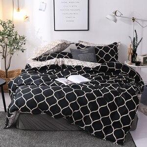 Image 5 - LOVINSUNSHINE Luxuryชุดเครื่องนอนSuper Kingผ้านวมชุดหินอ่อนเดี่ยวQueenขนาดสีดำผ้านวมคลุมเตียงผ้าปูที่นอนผ้าฝ้ายXx14 #