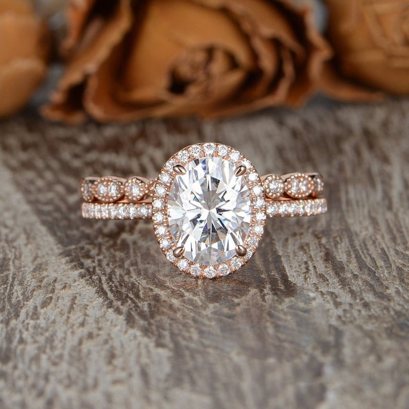 7x9mm Oval Cut Moissanite Ring Art Deco Solitaire Ring Gift For Her Simulated Diamond Ring Classic Engagement Ring 4 Prong Wedding Ring