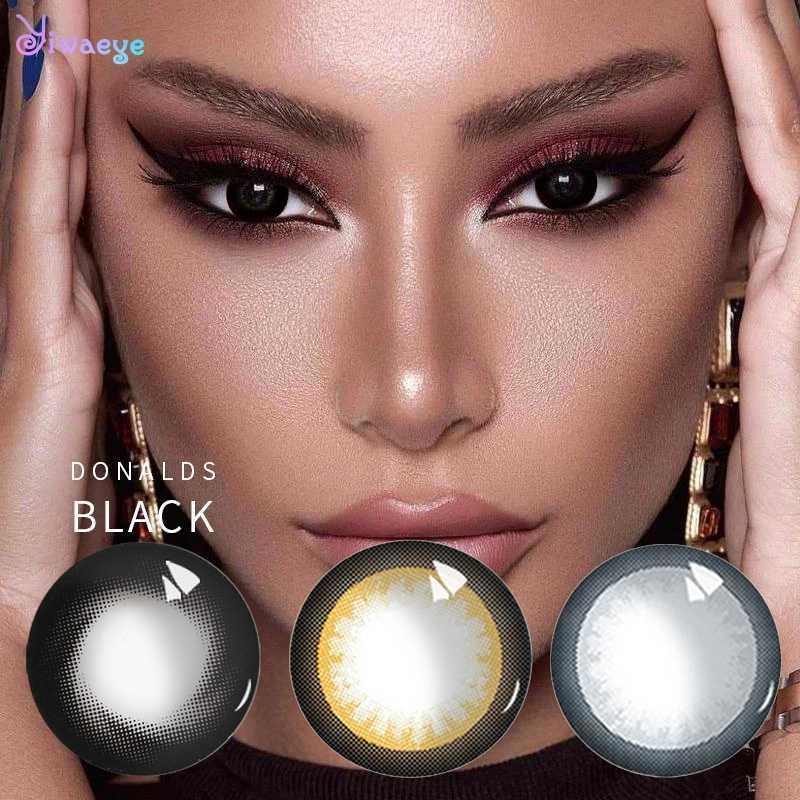 Myopic Degree Cycle miękkie kolorowe soczewki kontaktowe Eyecolor Beauty student Donalds na seksowną damska odzież wieczorowa kosmetyczny makijaż