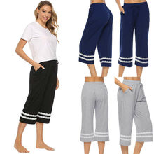 Hirigin Casual Women's Sleepwear Pajama Pants Sleep Cropped Lounge