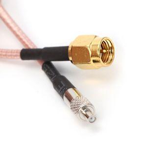 Прямой TS9 Женский Джек к SMA штекер RG316 коаксиальный косичка кабель сборка удлинительные кабели Y98E