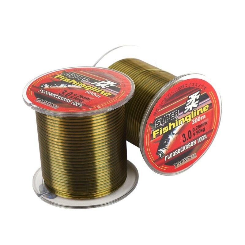 500M Nylon Fishing Line Fluorocarbon Coated Monofilament Fishing Leader Line Carp Fishing Wire Fishing Accessories 8-46LB