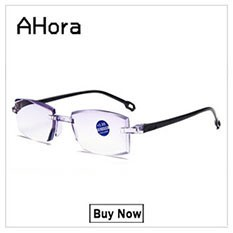 Ahora Anti Blue Ray Reading Glasses Men Women Rimless Cutting Presbyopia Eyewear for Ladies Blue Light Glasses +1.0 1.5 2.0 2.5
