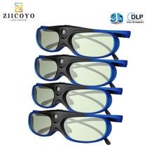 4 adet 3D gözlük projektör Full HD aktif DLP Link gözlük için Optama Acer BenQ ViewSonic keskin Dell DLP bağlantı projektörleri