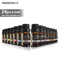 24 pièces huile essentielle soluble dans l'eau soulager le Stress pour humidificateur parfum lampe Air rafraîchissant aromathérapie huiles essentielles 10ml