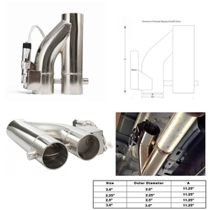 """Image 2 - Patented Product 2""""/2.25"""" / 2.5"""" / 3"""" Electric Exhaust Downpipe Cutout E Cut Out Dual Valve Controller Remote Kit EP CUT007Y"""