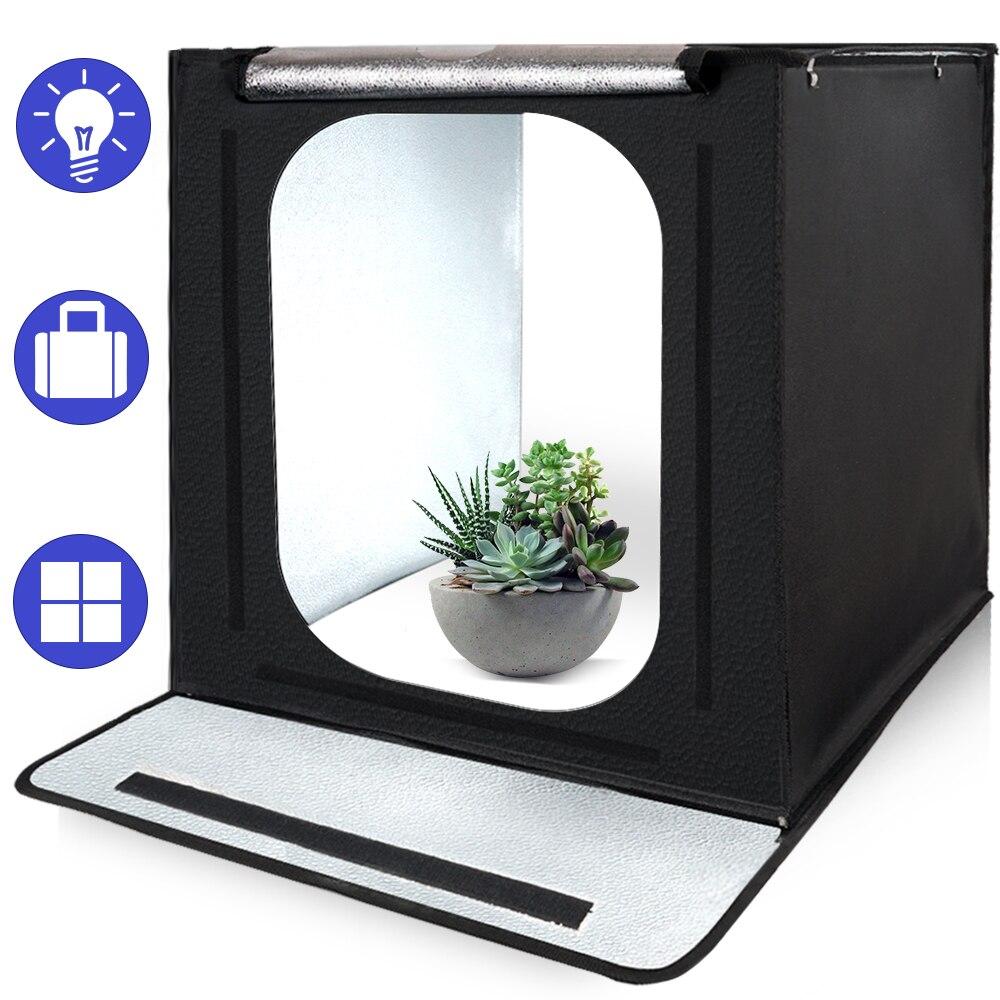 LED Light box F40 Folding Photo Studio Softbox Lightbox tabletop Shooting foldable Tent photobox for with dimmer