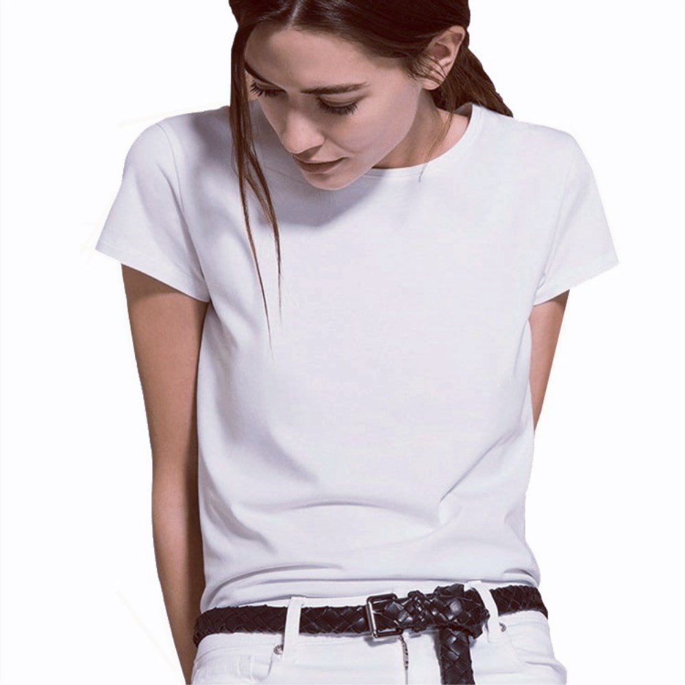 Short Sleeve Simple Women Tshirt Cotton Polyester Casual Funny White T Shirt Gift For Lady Yong Girl Top Tee Drop Ship