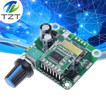TZT Bluetooth 4.2 TPA3110 15w+15W Digital Stereo Audio Power Amplifier Board Module 12V-24V car for USB Speaker,Portable Speaker(China)