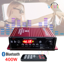 12V 400W 2.0 Channel HIFI Stereo Audio Amplifier Bluetooth Home Fidelity Amplifier For Mic SD USB FM Home Amplifier