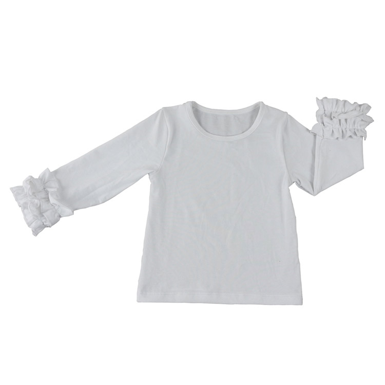 Kids Baby Girls Icing Ruffle T-shirt Easter Eggs Valentine/'s Day Raglan Tops Tee