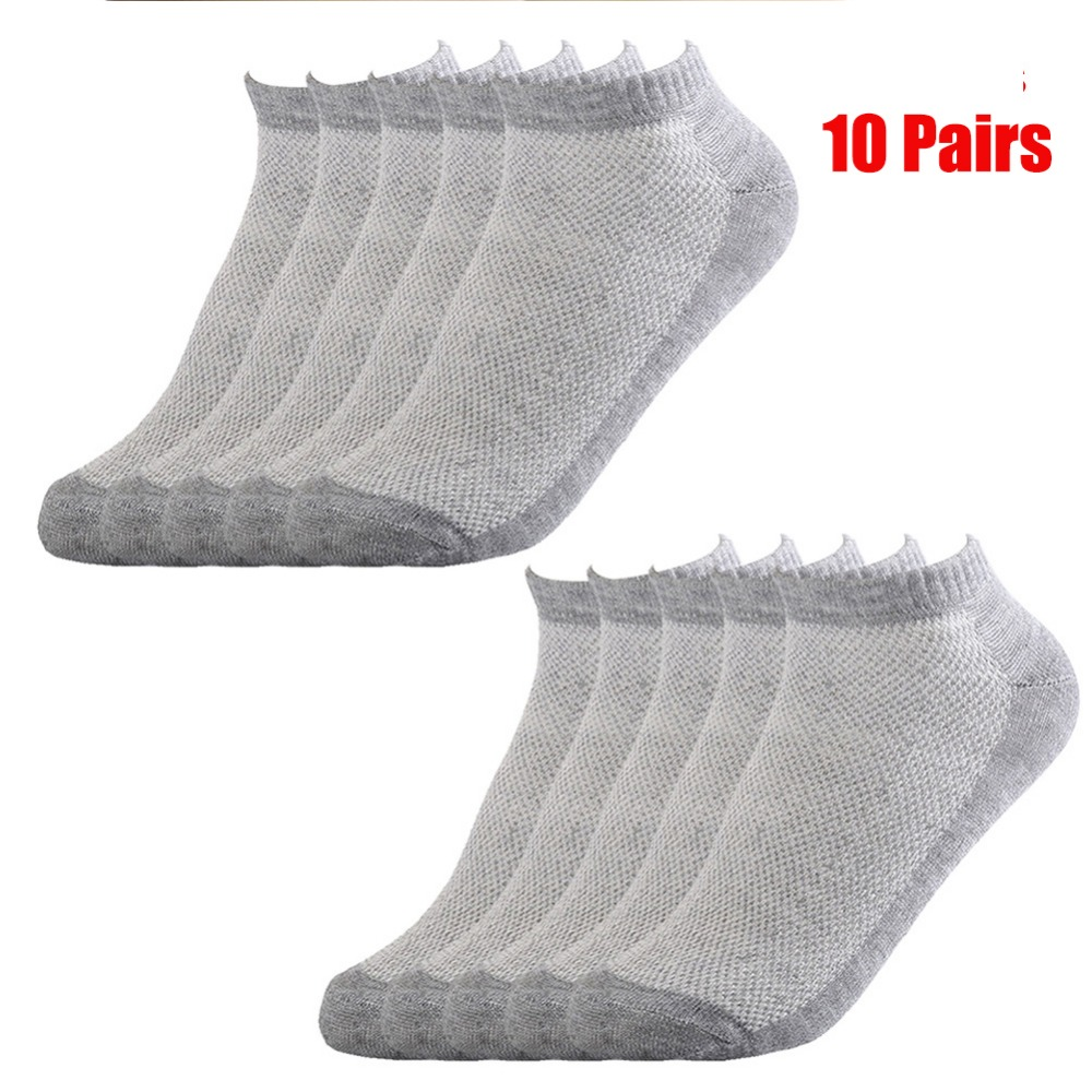 2020 Men's Cotton Socks New Styles 10 Pairs / Lot Soft Breathable Summer Autumn Sports Socks Ankle Low Cut Crew Men Sock