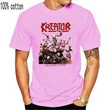 Черная футболка с коротким рукавом Kreator pleasures To Kill New, футболка в стиле хип-хоп