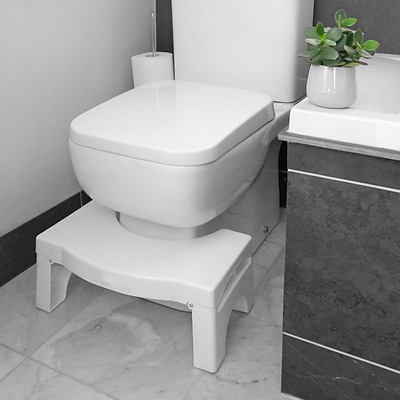 Banyo tuvalet Squat duruş çok fonksiyonlu katlanır tuvalet taburesi Anti kabızlık tabure çocuklar için ev banyo mobilyaları title=