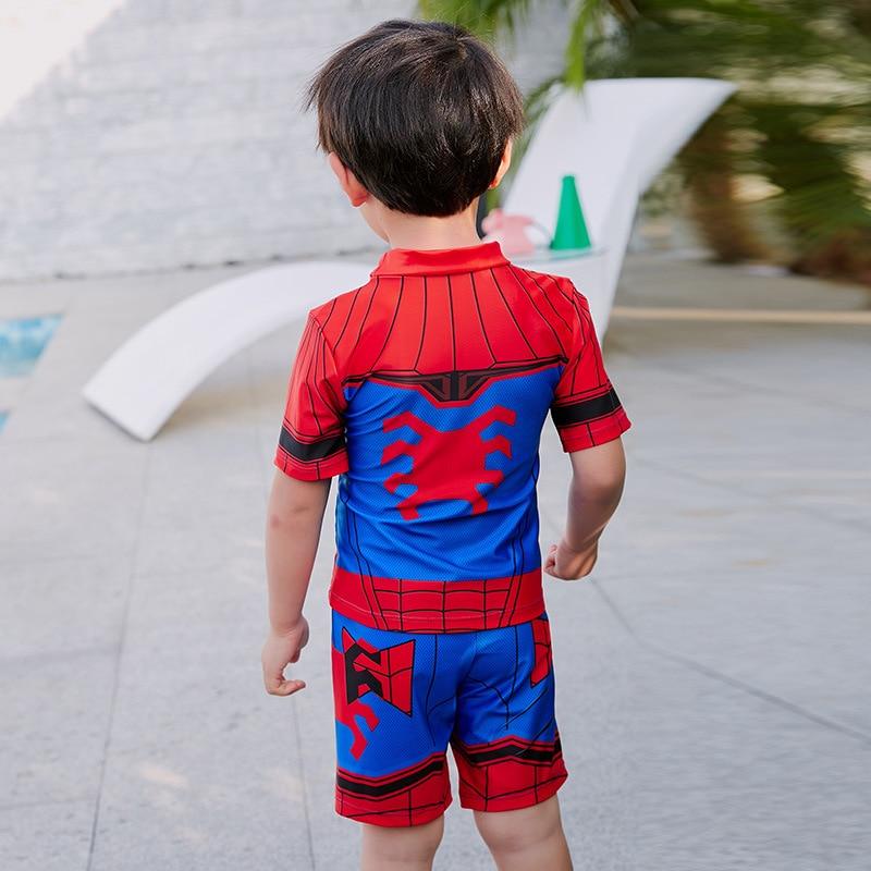 New Style KID'S Swimwear BOY'S Fashion Cartoon Spider Pattern Children Baby Split Type Shorts Swimwear