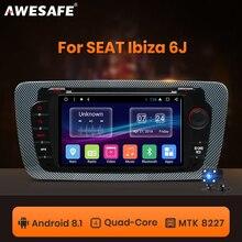 AWESAFE 2 DIN Androidรถวิทยุมัลติมีเดียเครื่องเล่นวิดีโอระบบนำทางGPSสำหรับที่นั่งIbiza MK4 6J 2008 2009 2010 2013 DVD