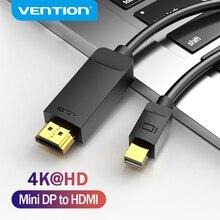 Mukavele Mini DisplayPort HDMI kablosu 4K HD Mini DP HDMI adaptörü için MacBook Air PC iMac TV projektör Thunderbolt 2 HDMI