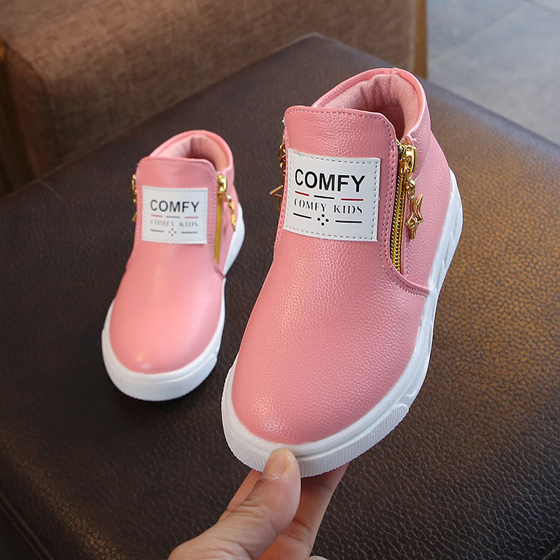 Kids Flat Shoes For Boy Girl New Autumn Winter Children Baby White Soft Flat Shoes Kids Anti Slip Fashion Chaussure Enfant D30