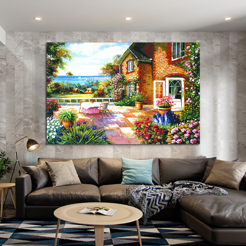 Garden posters for outside wall art picture Lucky Tree Painting Landscape Canvas print Muur voor Woonkamer home Decoration
